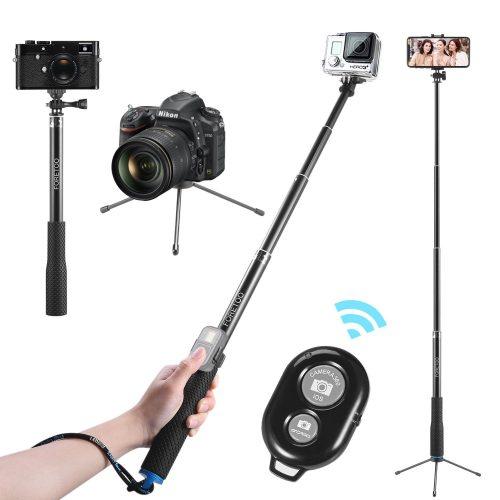 "Selfie Stick, Foretoo 36""Waterproof Hand Grip Adjustable Extension Tripod Pole for Mobilone/Nikon Camera/GoPro Hero Xiaomi Yi +Bluetooth Shutter Remote for iPhone X/8/8plus/7/7plus/ Samsung Galaxy"