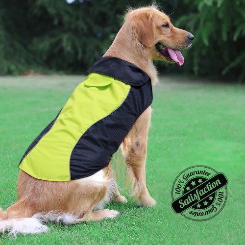 Ezer-High Visibility Dog Coats- Safety Waterproof Dog Jacket