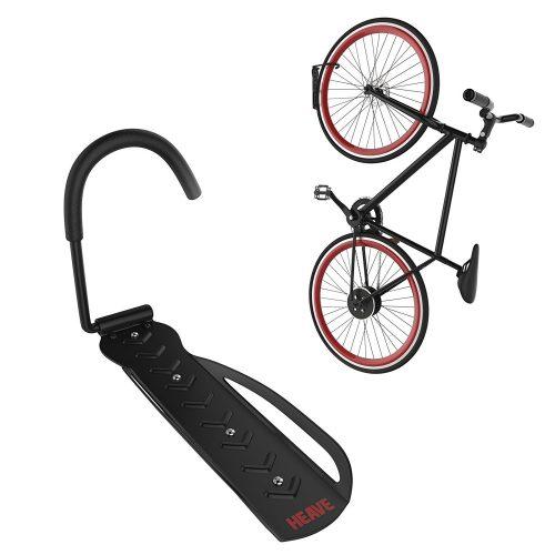 Bike Rack   Vertical Garage Wall Mount Storage for Hanging Bicycles   Heavy Duty Hook   60 Pound Capacity   Heave Indoor