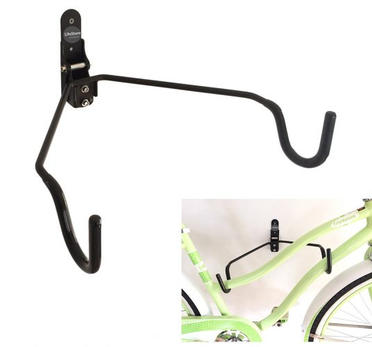 LifeStore Adjustable Tilt Wall Mount Bike Bicycle Storage Rack Hanger Hook