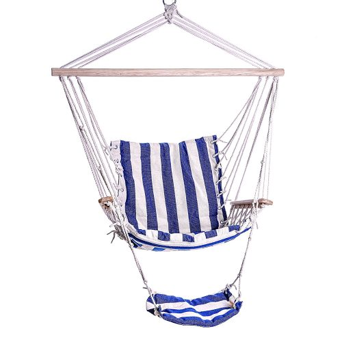 Planted Perfect Indoor/ Outdoor Hammock Chair, Durable Ropes, Straps and Cotton for Bedroom Hanging or Backyard Tree Swing Hammocks