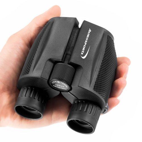 Aurosports 10x25 Folding High Powered Binoculars - Compact Binoculars