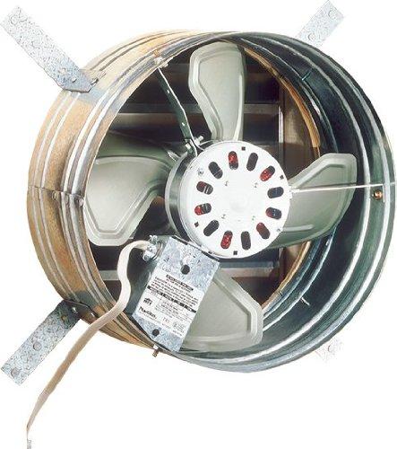 Broan 35316 Gable Mount 120-Volt Powered Attic Ventilator, 1600 CFM - Whole House Fan