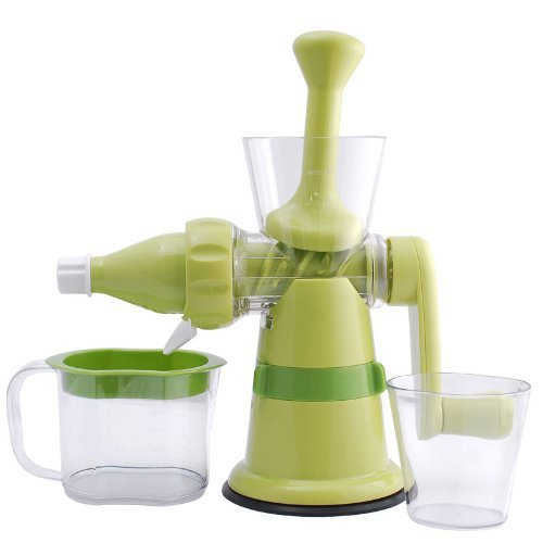 Chef's Star Manual Hand Crank Single Auger Juicer w/ Suction Base - Manual Juicer