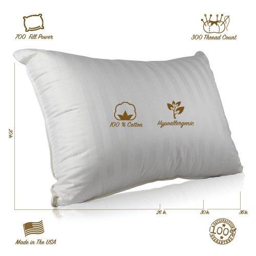 Continental Bedding Superior 100% Down Pillows