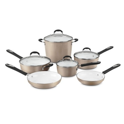 Cuisinart 59-10CH 10 Piece Champagne Set - ceramic cookware sets