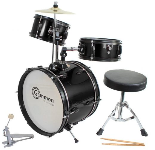 Gammon Percussion Drum Set Black - Kids Drum set