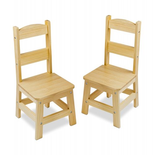 Melissa & Doug Solid Wood Chairs, Set of 2 - Toddler Chairs