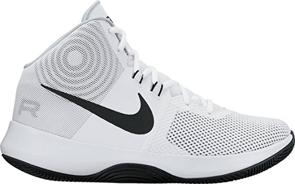 NIKE Women's Air Precision Black White Basketball Shoes - Basketball Shoes for Women