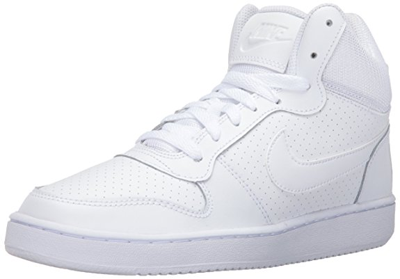 NIKE Women's Court Borough Mid Basketball Shoes - Basketball Shoes for Women