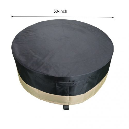 Stanbroil Full Coverage Round Fire Pit Cover - fire pit covers