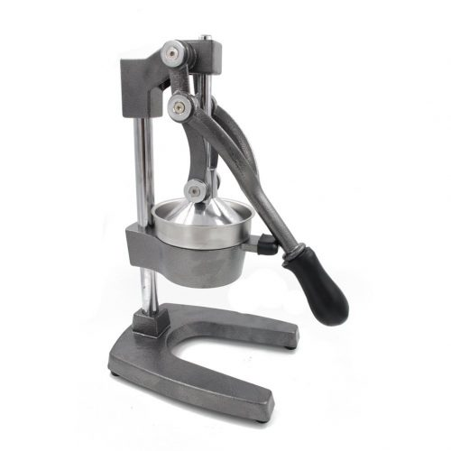 Switol Manual Cold Press Citrus Juicer, Commercial Hand Gray Cast Iron Squeezer with Stainless Steel Strainer, Suitable for Lemon, Orange, Lime etc - Manual Juicer