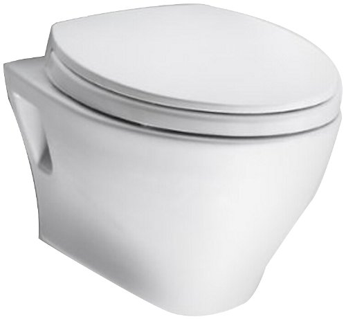TOTO CT418F#01 Aquia Wall-Hung Dual-Flush Toilet Bowl, Cotton White - Wall Mounted Toilet