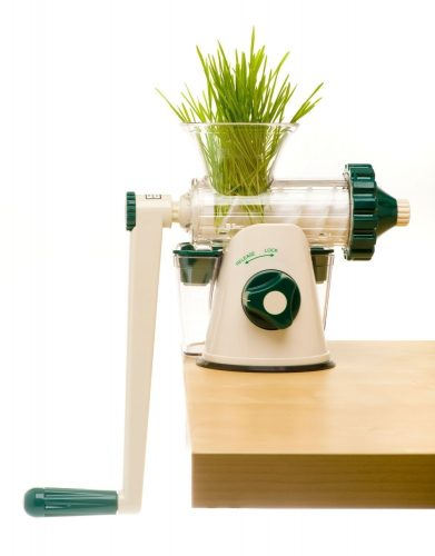 The Original Healthy Juicer (Lexen GP27) - Manual Wheatgrass Juicer - Kale, Spinach, Parsley and any other Leafy Green! Featuring a masticating live-enzyme cold press process - Manual Juicer