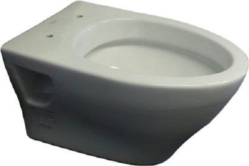 Toto CT418FGNo.01 Aquia Wall-Hung Dual-Flush Toilet, 1.6-GPF, and 0.9-GPF Cotton - Wall Mounted Toilet