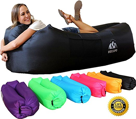 WEKAPO Inflatable Lounger Air Sofa Hammock-Portable, Water Proof& Anti-Air Leaking Design-Ideal Couch for backyard Lakeside Beach Traveling Camping Picnics & Music Festivals - Inflatable Couch