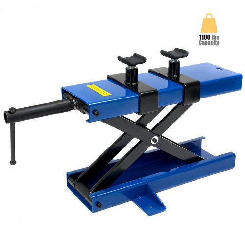 XtremepowerUS 1100Lbs Motorcycle Scissor Center Jack Lift Repair Stand - Motorcycle Lift Jacks