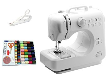Michley-Tivax Lil' Sew & Sew LSS-505 Combo Mini Sewing Machine, Electrical Scissors, and 100-Piece Sewing Kit