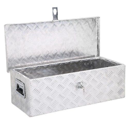 "Yaheetech 30 x 13"" Aluminum Tool Box w/ Lock Pickup Truck Bed Storage"