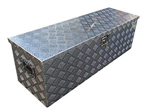 """TMS Aluminum Tool Box Tote Storage for Truck Pickup Bed Trailer Tongue 49""""x15"""" +Lock"""