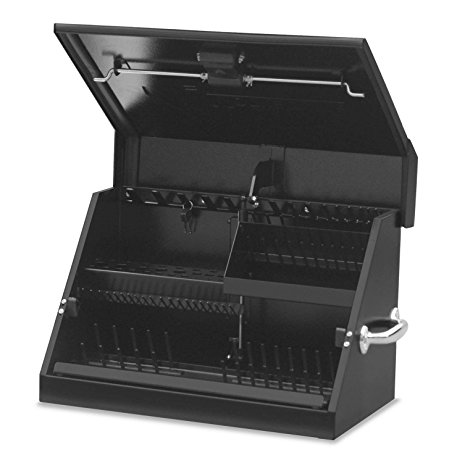 "Montezuma Portable Tool Box - 23"" x 13"" Truck Bed Storage Chest with Steel Construction & Locking Lid - SM200B"