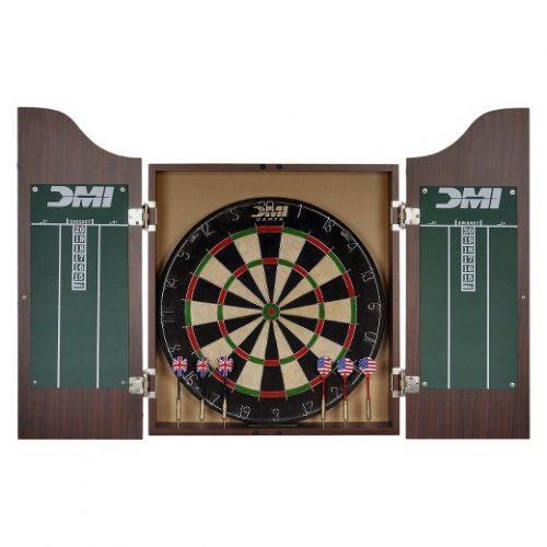 DMI Sports Deluxe Dartboard Cabinet Set - Electronic Dart Boards