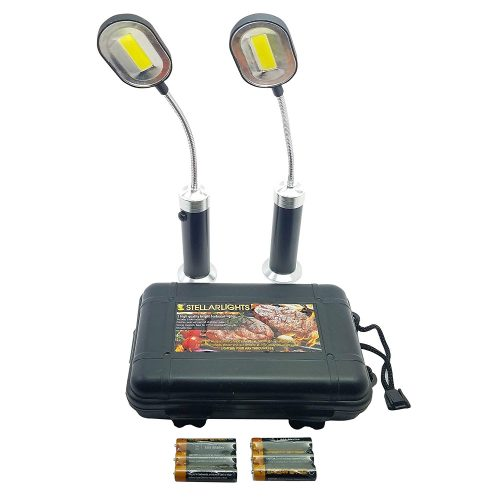 BRIGHT EYES Magnetic Barbecue BBQ Light Set for Grilling- 6 Alkaline AAA batteries included