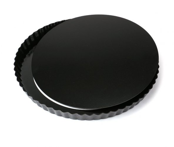 Tosnail Nonstick 11 Inch Quiche Pan, Tart Pie Pan with Removable Loose Bottom