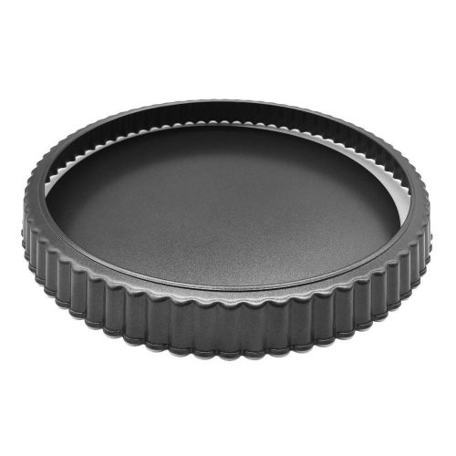 "HOMOW Nonstick Heavy Duty Tart Pan With Removable Bottom, Removable Loose Bottom Quiche Pans, Pie Pan (10""x1"")"