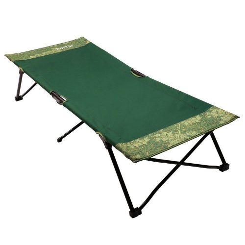 Forfar Camping Cot Portable Lightweight Foldable Sleeping Military Bed for Hiking Hunting with Storage Bag