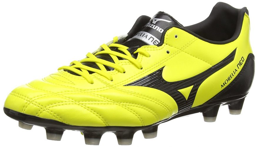 MIZUNO Morelia Neo UT MD Men's Soccer Boots, Yellow/Black, US9