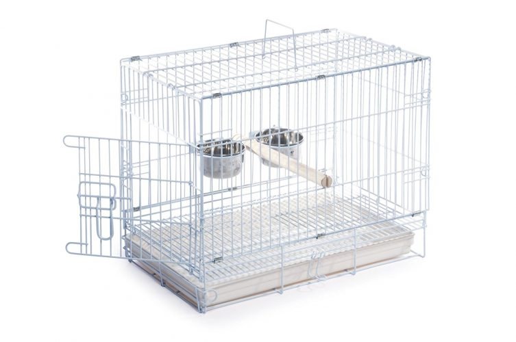 Prevue Hendryx Travel Bird Cage 1305 White 20-Inch by 12-1/2-Inch by 15-1/2-inch