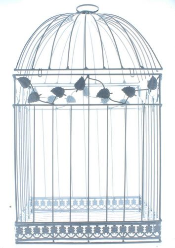 Oriental Trading- White Birdcage Wedding Gift Card Holder Wishing Well