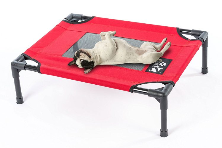 Elevated Pet Cot by 2PET - Deluxe Cooling Elevated Dog Bed - Dog Cot that Provides Maximum Comfort, Good Sleep, Joints Support & Insect Relief– All Seasons. Medium Red - Model EPB06