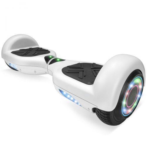 "XtremepowerUS 6.5"" Self Balancing Hoverboard Scooter w/ Bluetooth Speaker (Matte White)"