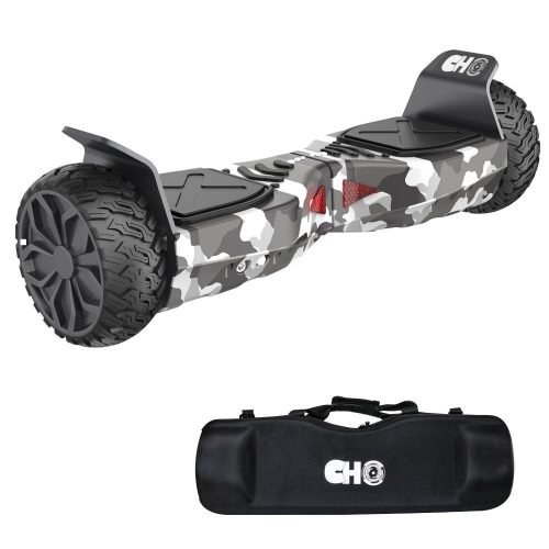 CHO[TM] All Terrain Rugged 6.5 Inch Wheels Hoverboard Off-Road Smart Self Balancing Electric Scooter With built-In Bluetooth Speaker LED Lights UL2272 Certified