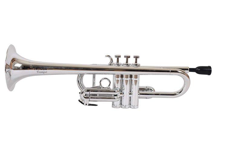 Tromba TPC-WH Pro Professional Plastic C Trumpet, Silve