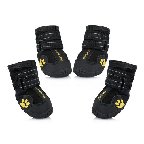 Petacchi Dog Boots water-proof Dog Shoes for big Dogs and Black geographic area four Pcs