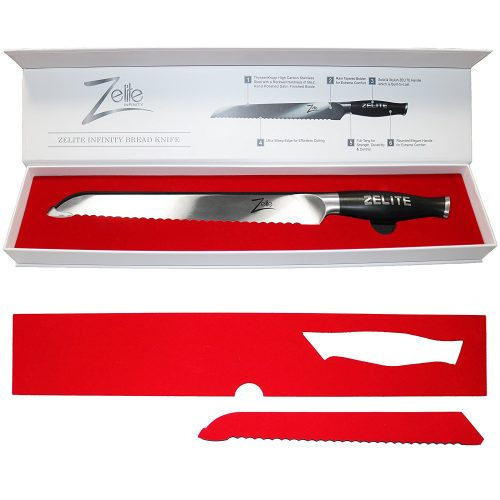 Zelite Infinity Bread Knife Extra Length [Comfort-Pro Series] High Carbon Stainless Steel knives