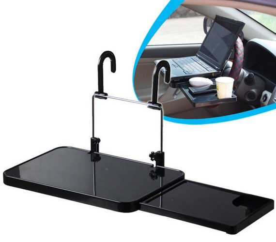 Zonstyle NEW Multi-functional Car Vehicle Seat Portable Foldable Car Seat Back Pc Mount Tray Black, Cup Holder