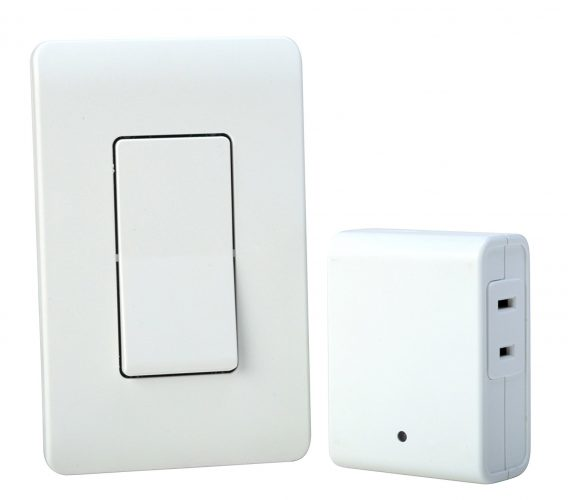 Woods Indoor Remote Control For Lights with Wall Switch (1 Polarized Outlet)