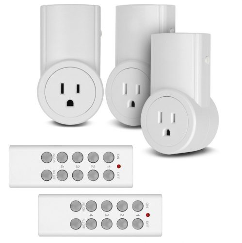 Etekcity Wireless Remote Control Electrical Outlet Switch for Household Appliances, Wireless Remote Light Switch, White (Remote Outlet)