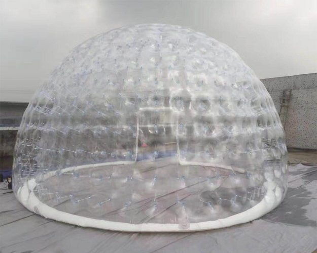 3/4/5/6/8m Double-layer Transparent Inflatable Bubble Camping Tent with Free Air Pump