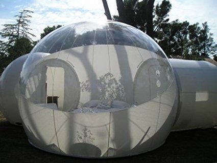 BubbleU24(TM) Mobile Inflatable Bubble Tent with Two Tunnels Family Camping Tent