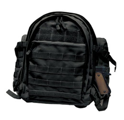Vivoi Waterproof Concealed Carry Tactical Assault Molle Backpack with Removable Holster (Black)