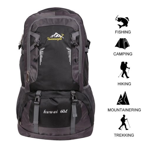 60 L Waterproof Ultra Lightweight Packable Climbing Fishing Traveling Backpack Hiking Daypack, Backpack, Handy Foldable Camping Outdoor Backpack Bag with a Rain Cover