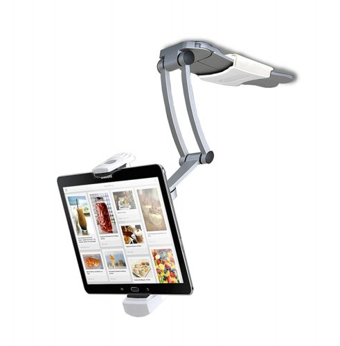 CTA Digital PAD-KMS 2-in-1 Kitchen Mount Stand for 7-13 Inch Tablets/iPad (2017)/iPad Pro 9.7, 10.5, 12.9/Surface Pro/IPad mini