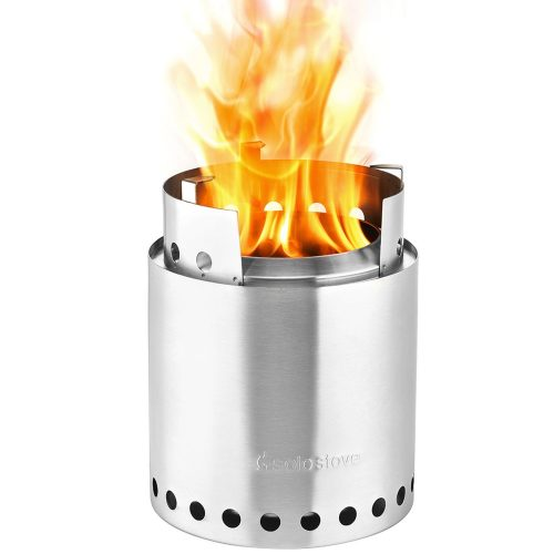 Solo Stove Campfire - 4+ Person Compact Wood Burning Camp Stove for Backpacking, Camping, Survival. Burns Twigs - NO Batteries or Liquid Fuel Gas Canister Required