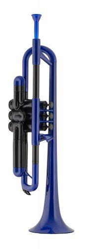 pBone PTRUMPET1B Plastic Trumpet, Blue