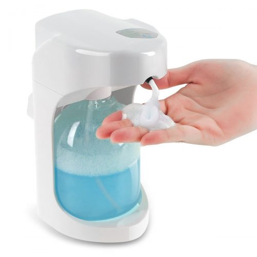 Foaming Automatic Soap Dispenser, Lantoo Hands-free Automatic Foam Soap Dispenser for Bathroom & Kitchen, 16oz Capacity, Adjustable Foam Control, Wall Mounted/On Countertop